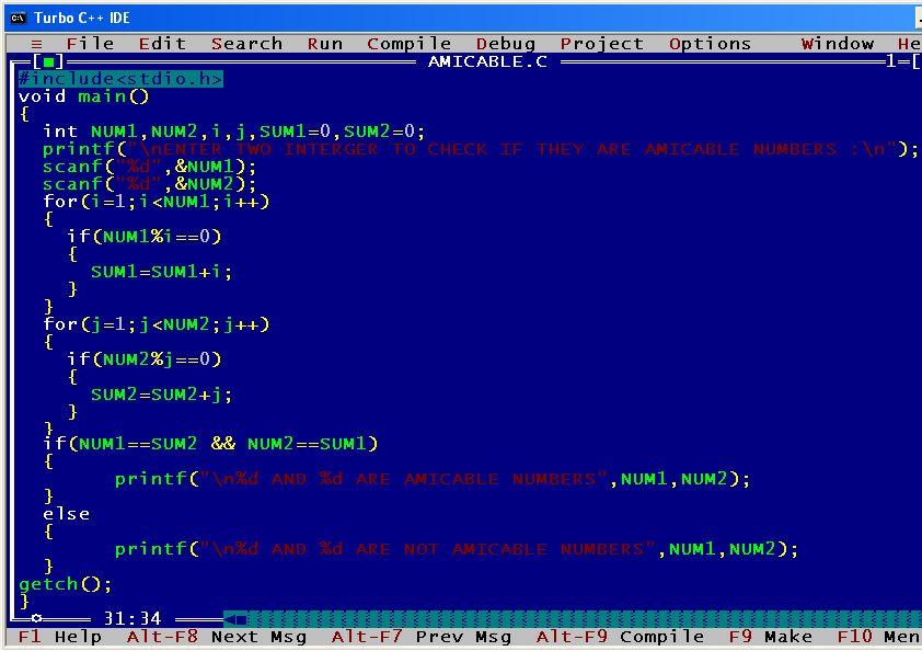 C_program_Amicable