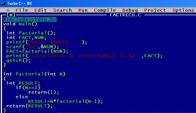 C_program_Factorial_Recursion