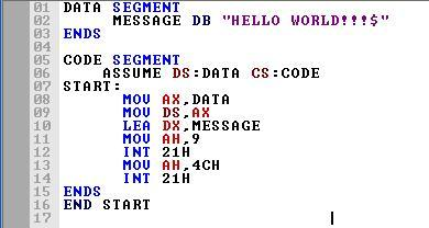 Asm_program_Hello_World