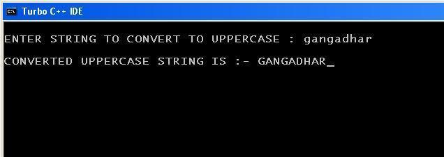 C_program_Lower_to_Upper_Output