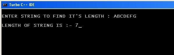 C_program_String_Length_Function_Output