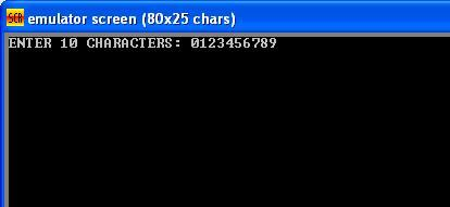 Asm_program_Ten_Characters_Output