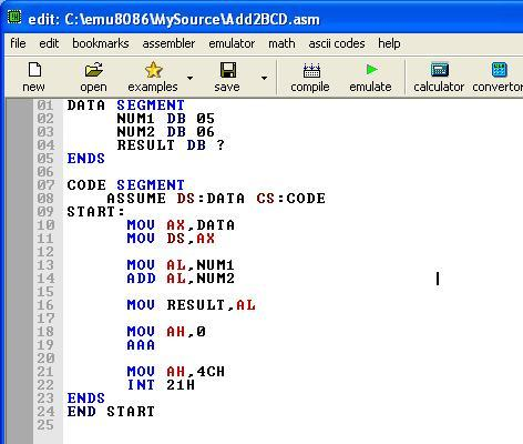 Asm_program_Add_Two_BCD_Numbers