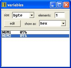 Asm_program_XCHG_Two_Numbers_Variables2