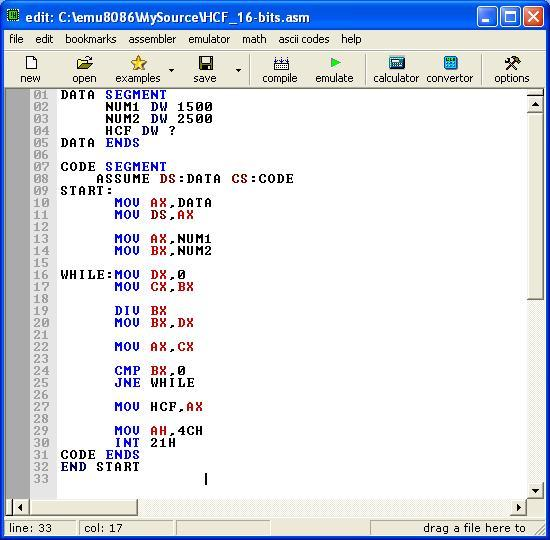 Asm_program_HCF_or_GCD_16-bit
