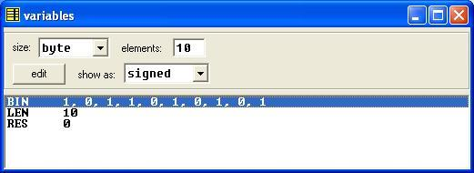 Asm_program_Add_Array_Binary_Digits_V1