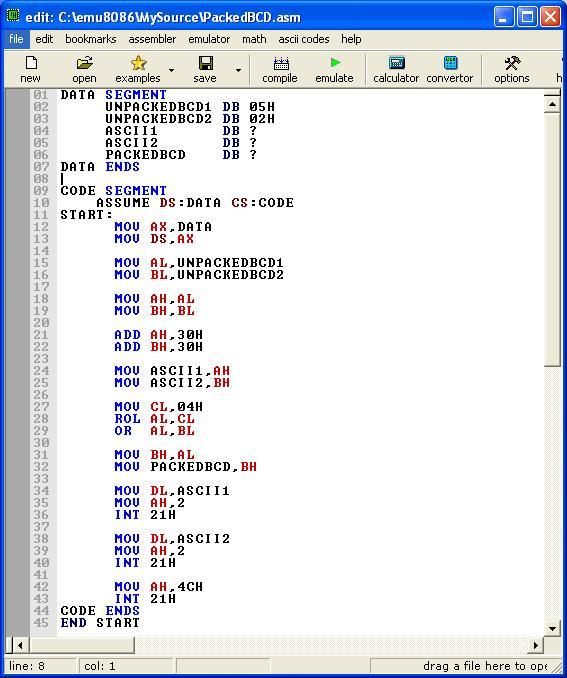 program using assembly language You can run programs written for the ti ce family of graphing calculators in  assembly language typically, assembly language programs run much faster and .