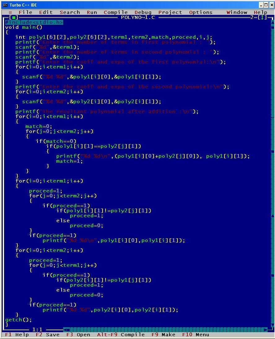 C_program_Add_Polynomial