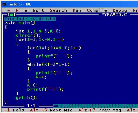 C_program_Pyramid_Format