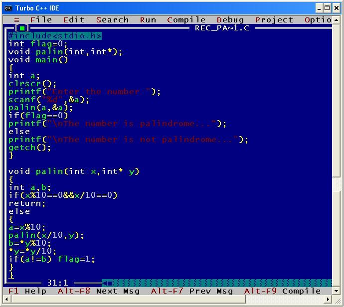 C_program_Rec_Palindrome