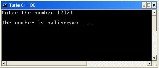 C Program To Check Whether A Number Is Palindrome Or Not