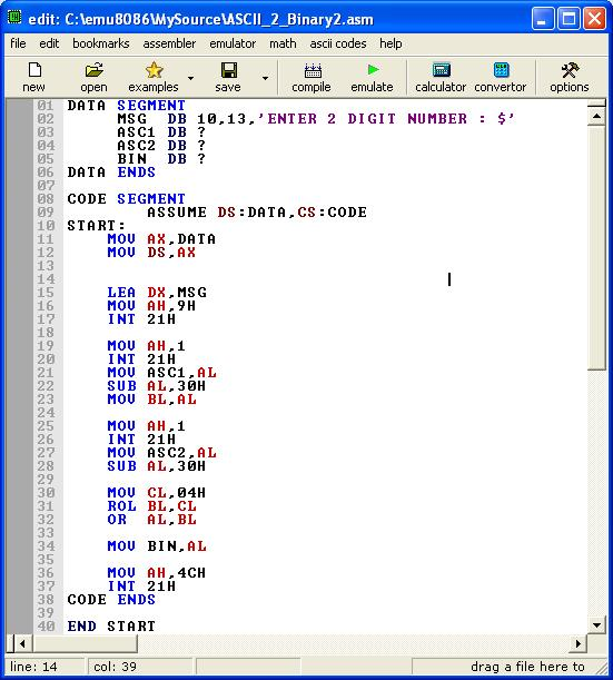 Asm_program_Ascii _2digit_To_Binary