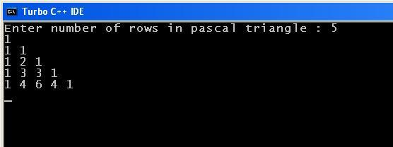 C_Program_Pascal_Triangle_Output