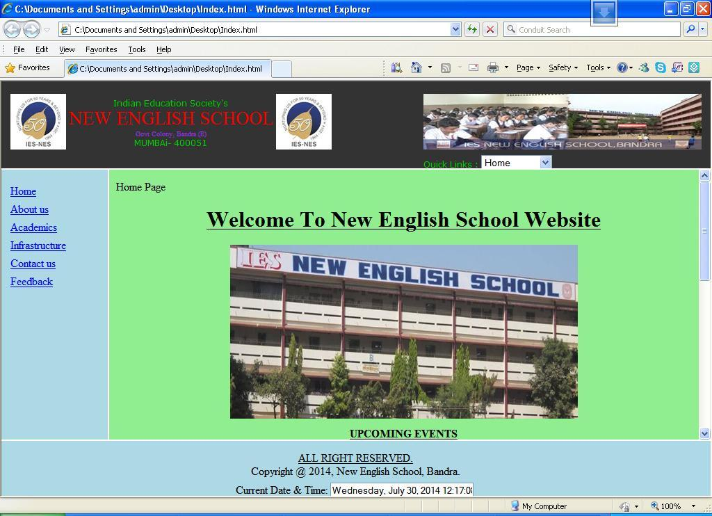 Html_Website_School_1