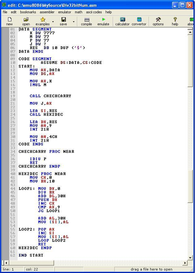 Asm_program_Divide_32bit_16bit