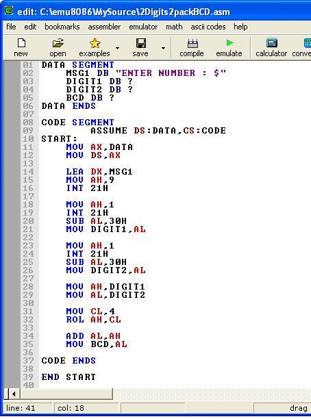 Asm_program_4digit_2_packed_BCD