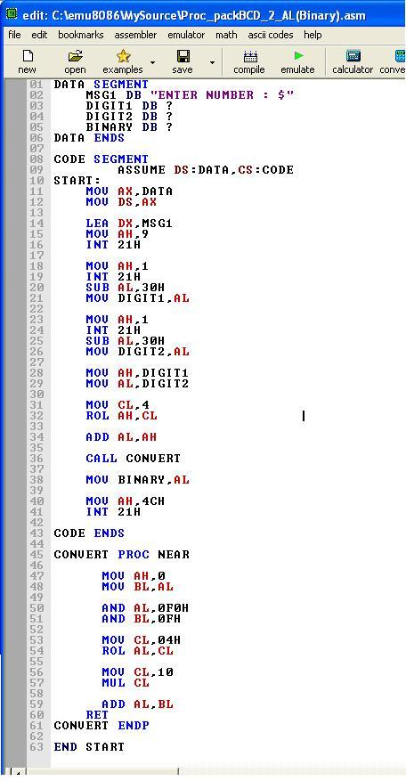Asm_program_Proc_Packed_BCD_to_AL(Binary)