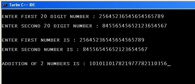 C_program_Add_20_Digit_Numbers_Output