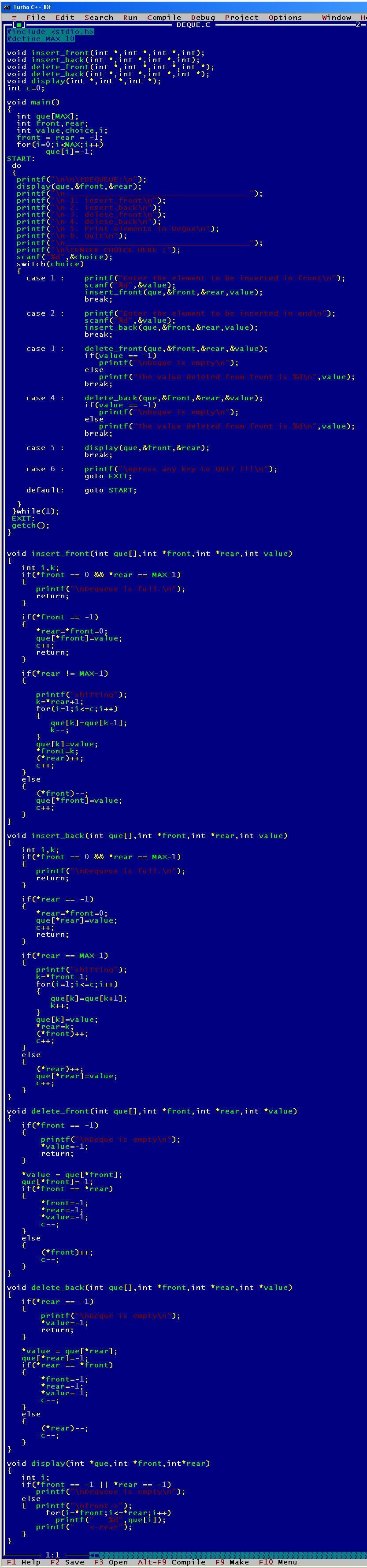 C_program_Deque_Array