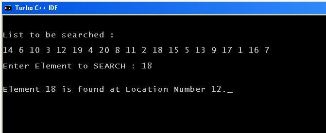 C_program_Linear_Search_Output