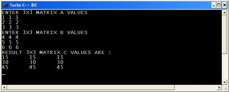 C_program_Matrix_Multiplication_Output