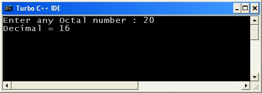 C_program_Octal_to_Decimal_Output