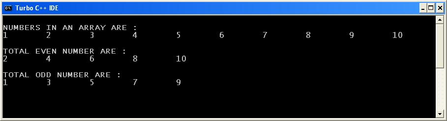 C_program_Separate_Even_Odd_output