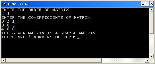 C_program_Sparse_Matrix_Output