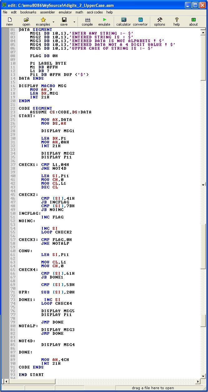 Asm_program_4digit_2_UpperCase