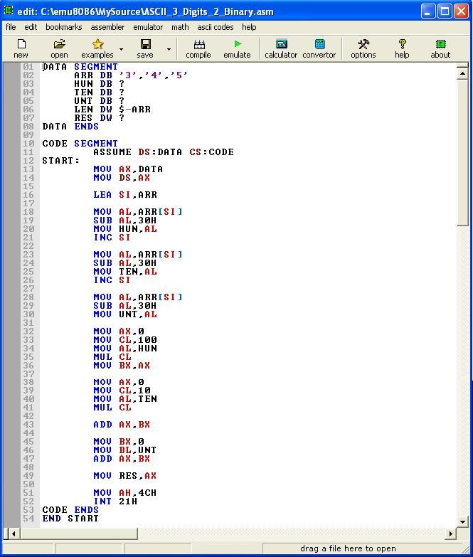 Asm_program_Ascii _3digit_To_Binary