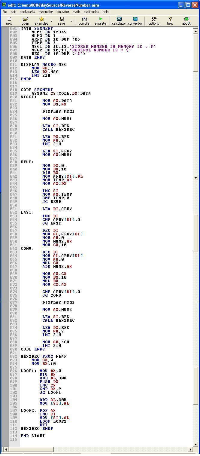 Asm_program_Reverse_Number