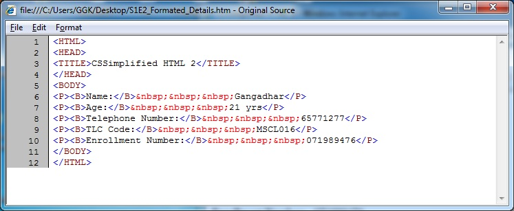HTML_Formated_Details_Source_Code