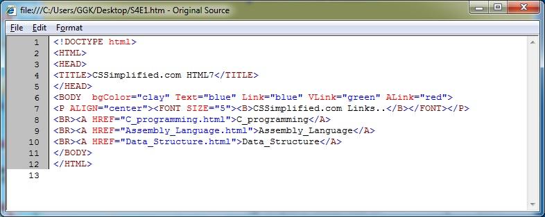 HTML_Image_ALink_VLink_Source_Code
