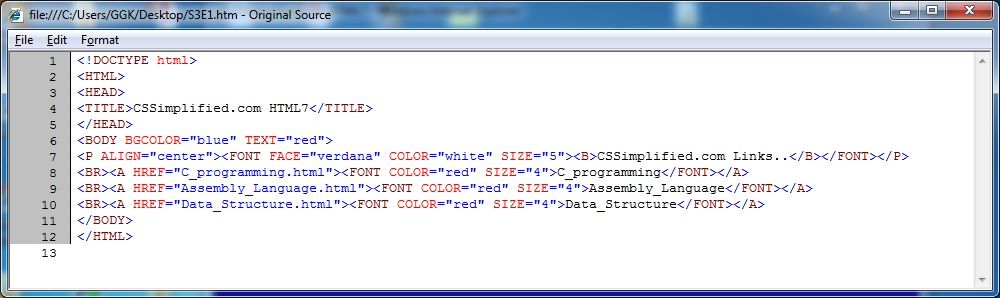 HTML_Links_Source_Code