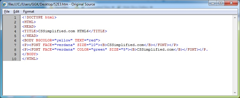 HTML_Yellow_Red_Source_Code