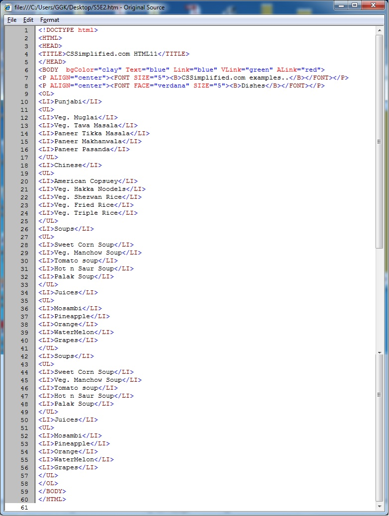 HTML_Nested_List_Source_Code