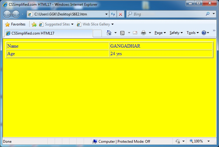 HTML_Table_2_Rows_2_Columns_with_Data_Page