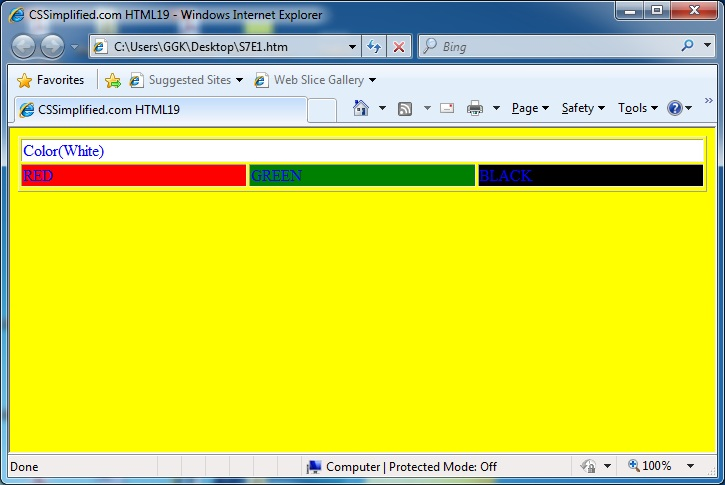 HTML_Table_Different_Colour_Page