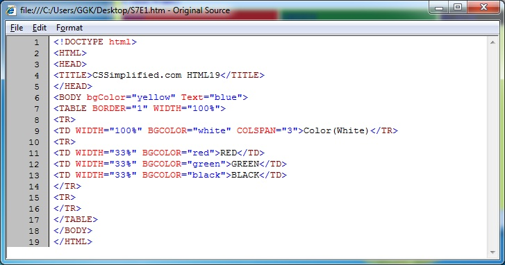 Html19 create following table in html with different - Html code for creating table ...