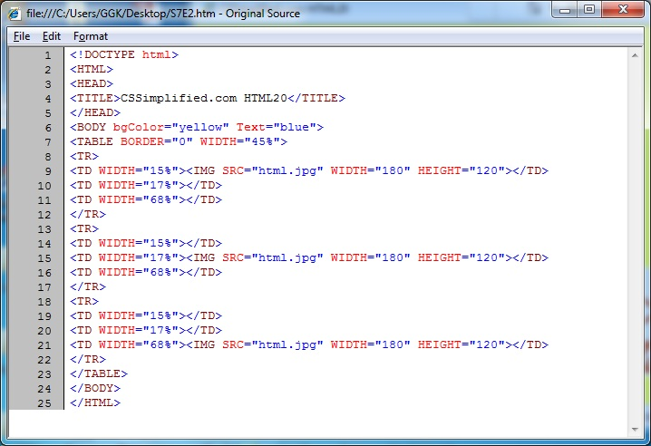 HTML_Table_Image_Pattern_Source_Code