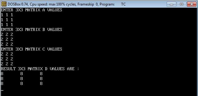 C_program_Matrix_Multi_Add_Output